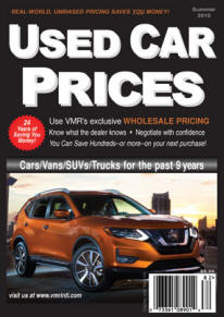 VMR Used Car Prices Summer 2018